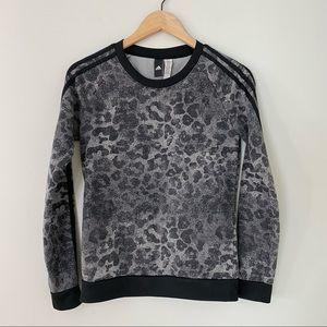 Adidas Leopard Print Crewneck Sweatshirt